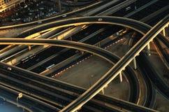 Cruzar-se em Dubai (Emiratos Árabes Unidos) Fotografia de Stock Royalty Free