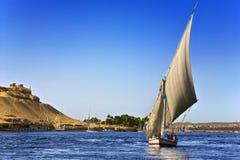 Cruzeiro do Nilo de Felucca imagens de stock