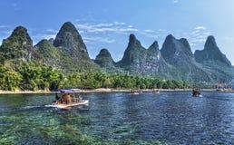 Cruzeiro do rio de China Guilin Li fotografia de stock royalty free