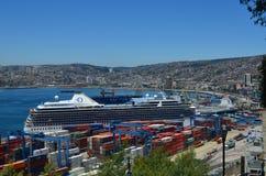 Cruzeiro em Viña Del Mar, o Chile Fotografia de Stock