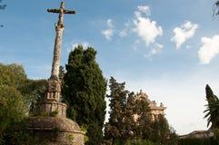 Cruzeiro en la ermita de cartujo del jerez Foto de archivo
