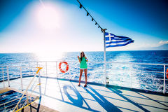Cruzeiro no mar Foto de Stock Royalty Free