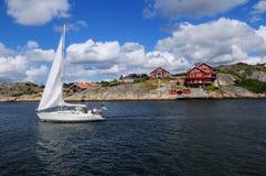 Cruzeiro no rio de Gothia, Gothenburg, Suécia Imagem de Stock