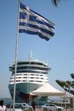 Cruzeiro Shipin Greece de AIDA Fotografia de Stock Royalty Free