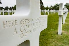 Cruzes brancas em Normandy Fotografia de Stock Royalty Free