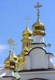 Cruzes cristãs ortodoxos douradas Imagens de Stock Royalty Free