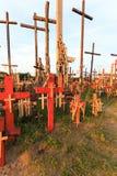 Cruzes de madeira christianity fotografia de stock royalty free