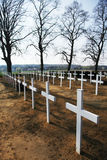 Cruzes do cemitério Imagem de Stock