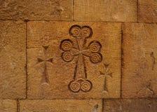 Cruzes do monastério três de Noravank imagem de stock royalty free