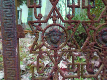 Cruzes forjadas velhas e símbolos judaicos Fotos de Stock Royalty Free