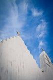 Cruzes no céu, Mykonos, Greece imagens de stock royalty free