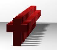 Cruzes vermelhas ilustração stock