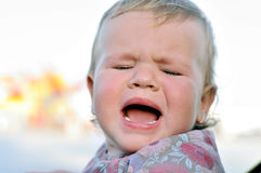 Cry of baby Royalty Free Stock Photos