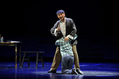 Cry on each other's shoulder- Jiangxi opera a steelyard Stock Photos