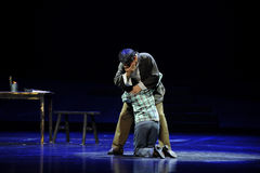 Cry on each other's shoulder- Jiangxi opera a steelyard Stock Photography