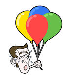 Cry face with balloons. Creative design of cry face with balloons Royalty Free Stock Image