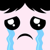 Cry face draw. Creative design of cry face Royalty Free Stock Photo