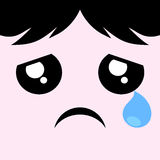 Cry face draw. Creative design of cry face Stock Images