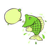Cry of the fish. Illustration-cry of the fish vector illustration
