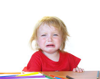 Cry girl Royalty Free Stock Photo