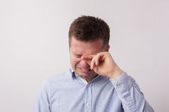 Cry of grief or bad news. Stock Images