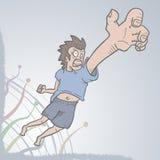Cry man. Creative design of cry man vector illustration