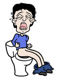 Cry toilet. Creative design of cry toilet vector illustration