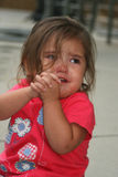 Crybaby. Young child crying royalty free stock image