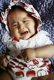 She is crying stock images