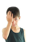Crying. A portrait of a crying Asian boy Stock Photography