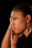 Crying african woman. Crying african ghanese young woman shedding tears Stock Photography