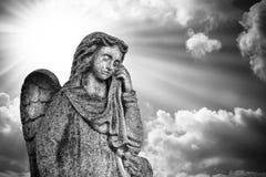 Crying angel. Royalty Free Stock Image