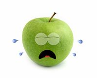 Crying apple Royalty Free Stock Images