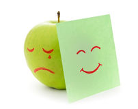 Crying apple Stock Image