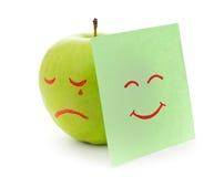 Crying apple Stock Image