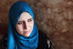 Crying arab muslim woman Stock Photography