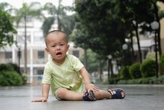 Crying asian baby Royalty Free Stock Photography