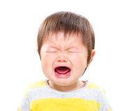 Crying asian baby girl Royalty Free Stock Photo