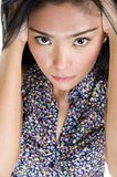 Crying asian beauty Royalty Free Stock Image