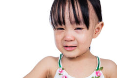 Crying Asian Chinese little girl Stock Images