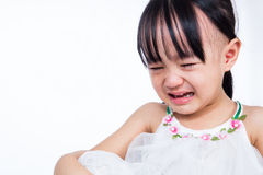 Crying Asian Chinese little girl Royalty Free Stock Photo