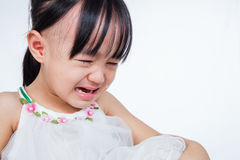 Crying Asian Chinese little girl Royalty Free Stock Photography