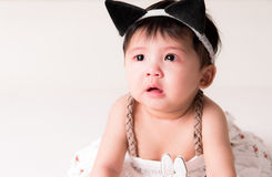 Crying Asian girl 6 months old Stock Photo