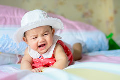 Crying. Asian little girl crying But still cute Royalty Free Stock Photos