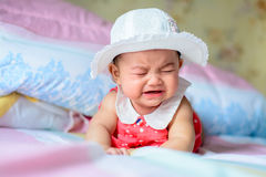 Crying. Asian little girl crying But still cute Royalty Free Stock Images