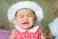 Crying. Asian little girl crying But still cute Stock Photo