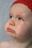 Crying Baby. Image of crying 9-month old baby Royalty Free Stock Photography