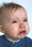 Crying Baby. Image of crying 10 month old baby boy Stock Images