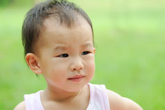 Crying baby. Chinese baby girl is crying Royalty Free Stock Images