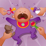 Crying baby. Vector illustration of crying baby. EPS 8 Royalty Free Stock Photos